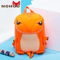 NOHOO Large Size Cartoon Children Dinosau Backpacks Waterproof Dinosaur School Bag for Teenage Girls Boys Fashion Kids Baby Bags