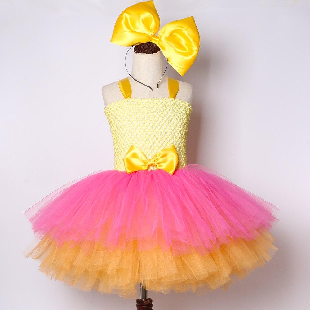 Image 2 - Girls Lol Tutu Dress Cute Princess Cartoon Doll Girl Birthday Party Dress for Kids Girl Christmas Halloween Lol Cosplay CostumeDresses   -