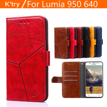 Flip Case For Microsoft Lumia 640 950 XL Cover Business Luxury Wallet Leather Book Purse Fundas Coque Cover For Lumia 950 640 XL