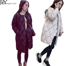 JY.Women's Cotton-padded Jacket New Winter Medium-long Down Cotton Parkas Plus Size Coat Female Slim Ladies Jackets And Coats Z