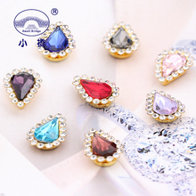 Golden Claw Flatback Decorative Rhinestones Shine Waterdrop Diy For Sewing Wedding Glass Mix Color S132