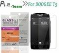 Protetor de tela para doogee aierwill t5 hd 0.3mm limpar protective film + 9 h 2.5d anti-explosão para doogee telefone t5 vidro temperado