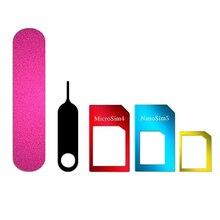 5 в 1 Набор инструментов для резки SIM карты адаптер лоток Стандартный нано карты телефон аксессуар шлифовальный алюминиевый сплав микро контактный конвертер