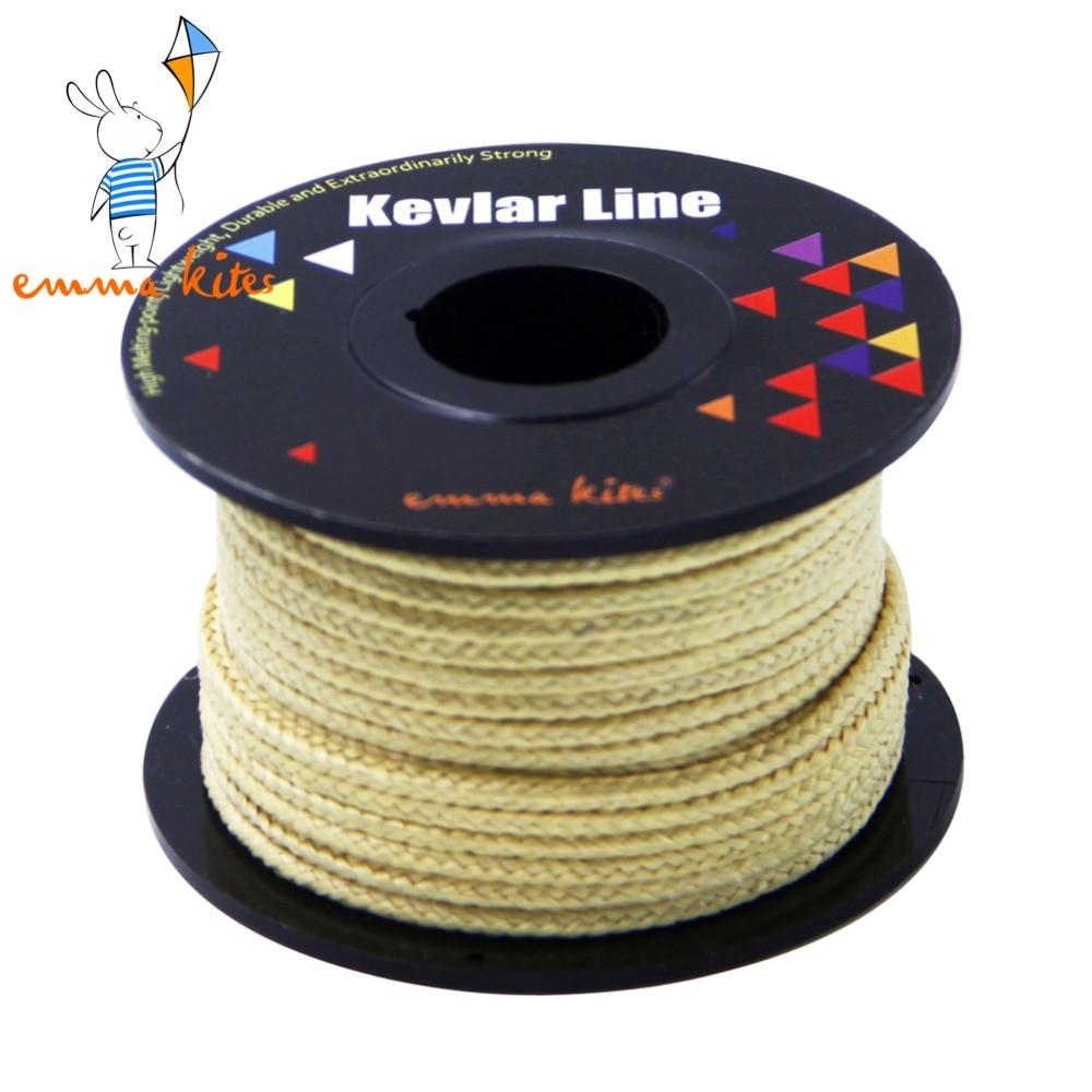 50ft 15m 1000lbs braided kite line strong kevlar line for Kevlar fishing line
