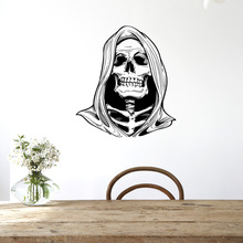 Scary Death Skull Halloween Decoration Wall Stickers Halloween Rooms Fun Life Game Of Decor Ghost Home Decoration Wall Art