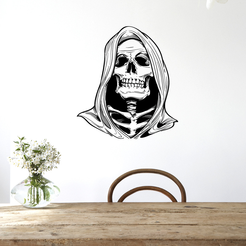 Scary Death Skull Halloween Decoration Wall Stickers