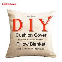 Your Image Printed Custom DIY Cushion Cover Pillow Blanket Cotton Linen Korean Velvet Italian Velvet Decor Pillow Funda Cojines