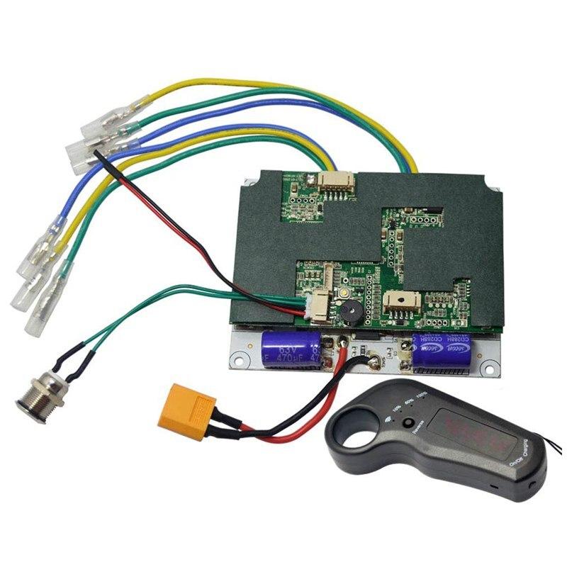 Esk8 longboard contrôleur 24 V 29.4 V 36 V 6 s 7 s 10 s simple double moteur d'entraînement ESC 2.4G télécommande pour planche à roulettes électrique