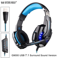KOTION EACH G9000 USB 7.1 Surround Sound Version Game Gaming Headphone Computer Headset Luminous Earphone PC Headband With Mic