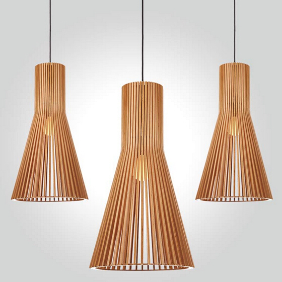 modern restaurant wood pendant light home decroative loft lamp hotel bedroom lighting bar wood pendant light