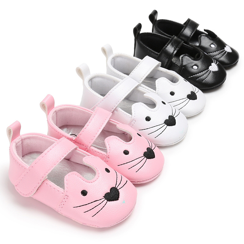 Haiya Spring And Autumn 0-1 Years Old Female Baby Soft Bottom Non-slip Princess Shoes Baby Toddler Shoes