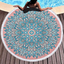 Microfine Mandala Beach Towel Round Microfiber Large Printed Yoga With Tassel Mat