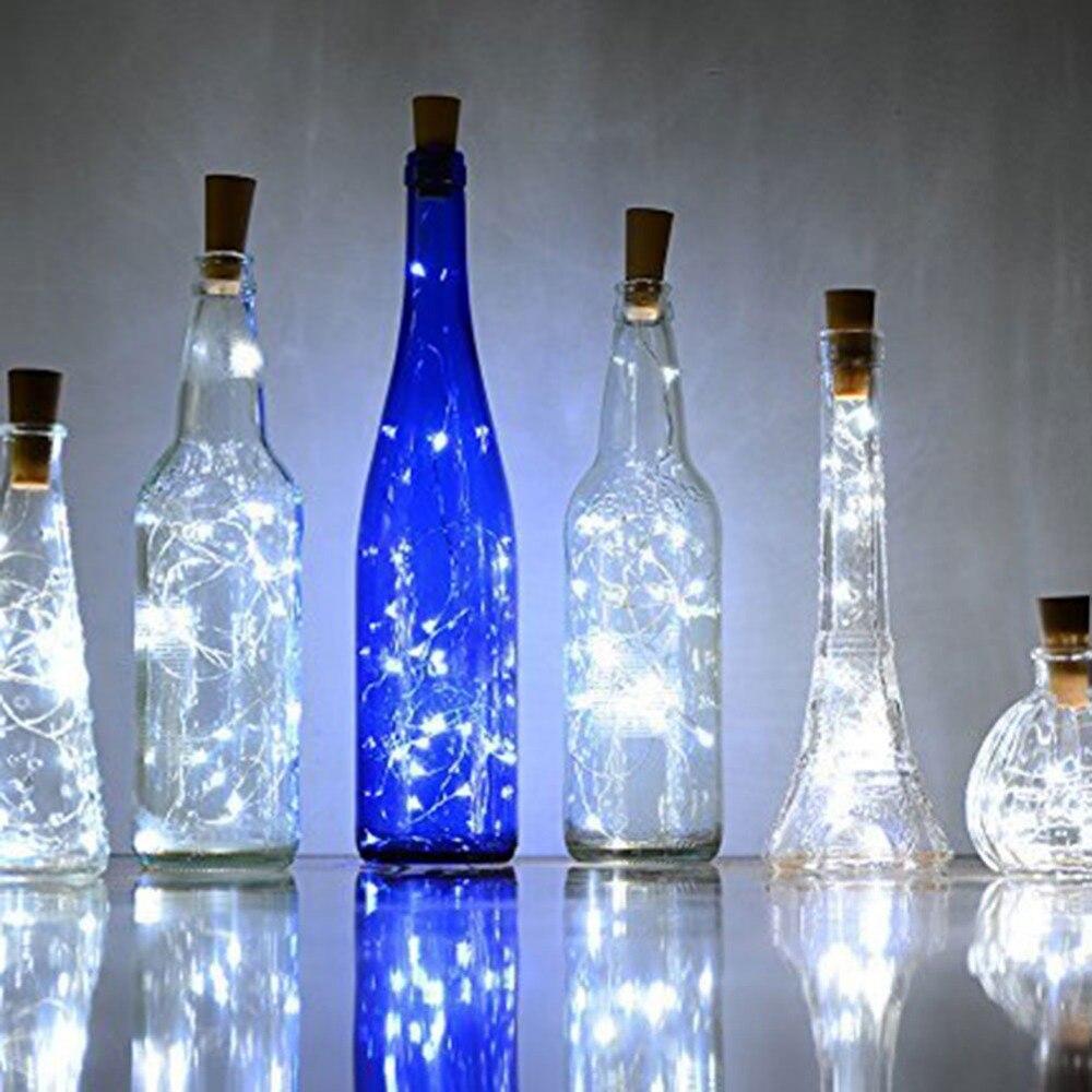 10 Stücke Wein Flasche Stopper Led String Licht Für Weihnachten Lichter Wasserdichte Kupfer Fee Streifen Diy Kork Licht Für Hochzeit Party Vertrieb Von QualitäTssicherung