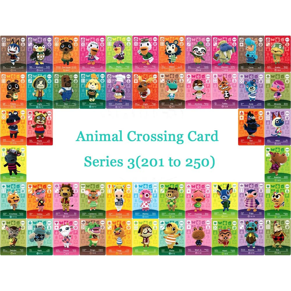 Animal Crossing Card NTAG215 Printed NFC Card Compatible Series 3 (201 to 250) Pick from the ListAnimal Crossing Card NTAG215 Printed NFC Card Compatible Series 3 (201 to 250) Pick from the List
