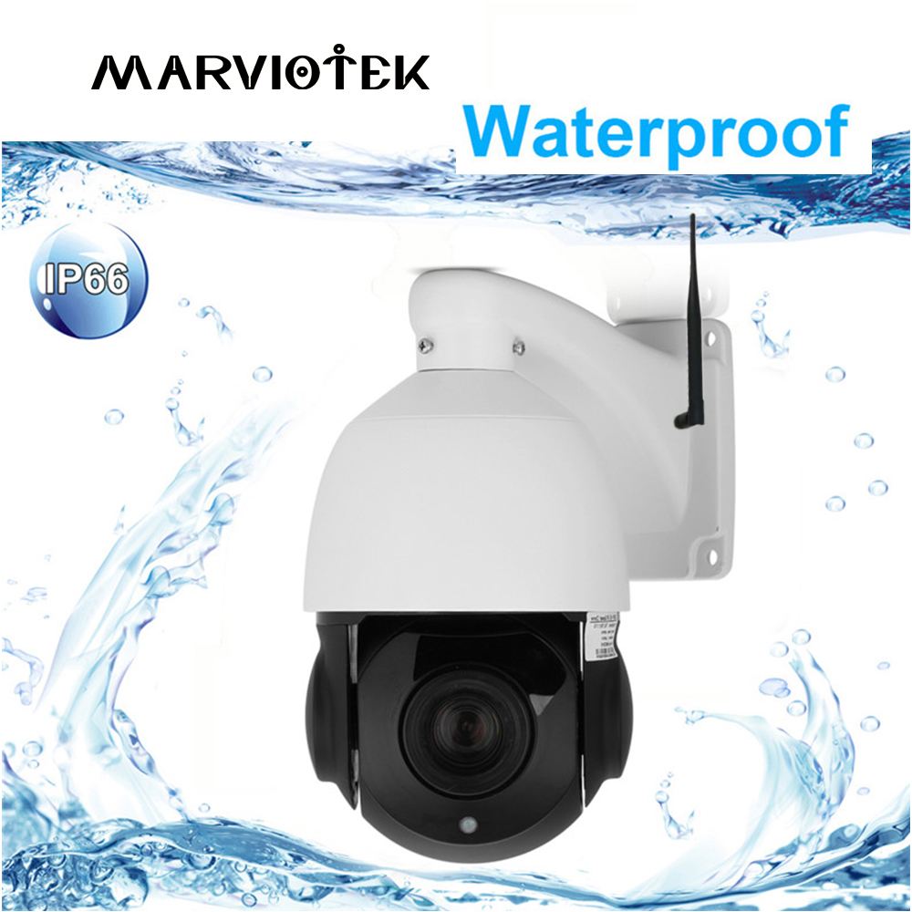 цена 1080P Wireless PTZ Speed Dome IP Camera WIFI 4X Zoom Outdoor CCTV Security Cam Video Surveillance Camera Audio ONVIF IR Ipcam