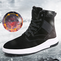 Men Winter Warm Shoes Platform Ankle Boots Mens High Top Shoes Casual Plush Snow Boots Superstar Zapatillas Hombre Leisure Shoes