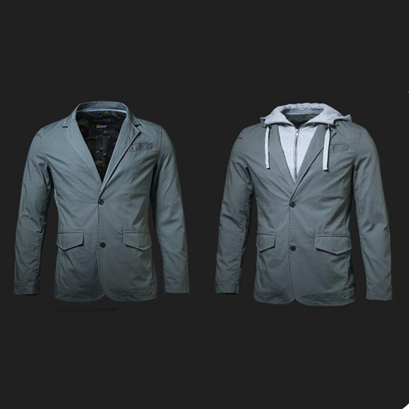 Deal¦Blazers Men Jacket Suit Slim-Fit Cargo-Pocket-Design Sector Seven Military-Style Waterproof