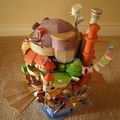 Free Shipping Miyazaki Hayao Anime Howl's Moving Castle 3D Puzzle Paper Model Kid Presents