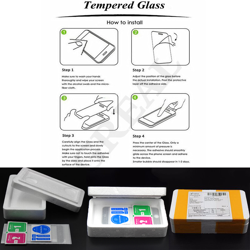 Tempered glass clean paper and strong packing free shipping