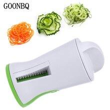 GOONBQ 1 шт. спиральный тип, с воронкой терка для овощей ABS+ нержавеющая сталь Морковь Огурец слайсер измельчитель овощей спиральное лезвие резак