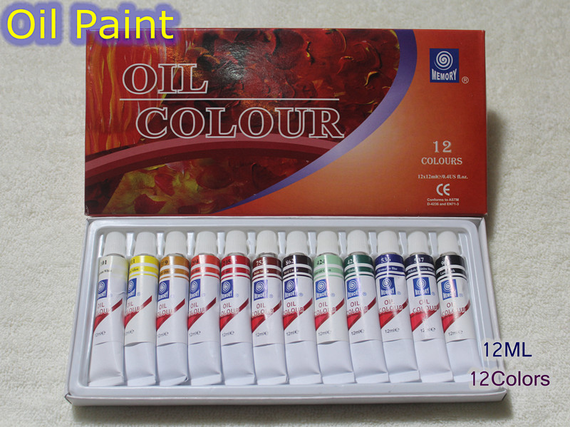 Professional Brand Oil Paint Canvas Pigment Art Supplies Acrylic Paints Each Tube Drawing 12 ML 12 Colors SetProfessional Brand Oil Paint Canvas Pigment Art Supplies Acrylic Paints Each Tube Drawing 12 ML 12 Colors Set