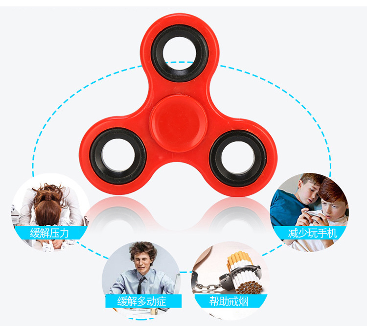 Fidget Spinner Finger ABS EDC Hand Spinner Tri For Kids Autism ADHD Anxiety Stress Relief Focus Handspinner Toys 11-414
