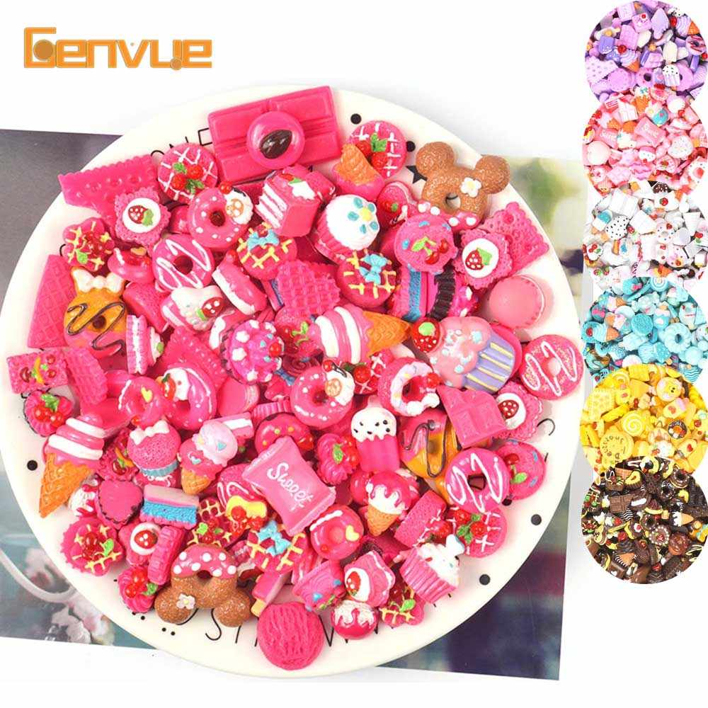 10pcs Resin Cake Bead Addition For Slime Supplies Soft Clay Accessories Charms Slime Kit Diy Lizun Toys Decoration Antistress