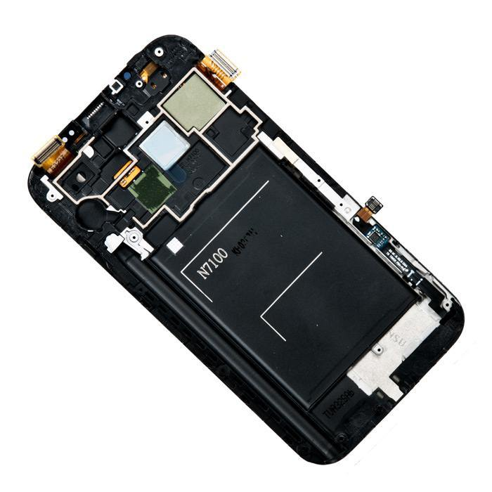 display assembled with touchscreen and front panel for Samsung Galaxy Note 2 GT-N7100 gray AAA