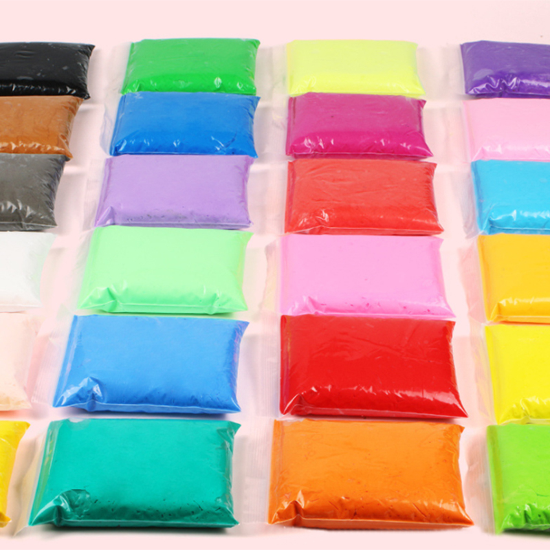 24 Colors Fluffy Foam Playdough Manual DIY Baby Care Air Drying Handprint Footprint Soft Plasticine Toy Polymer Clay For Child