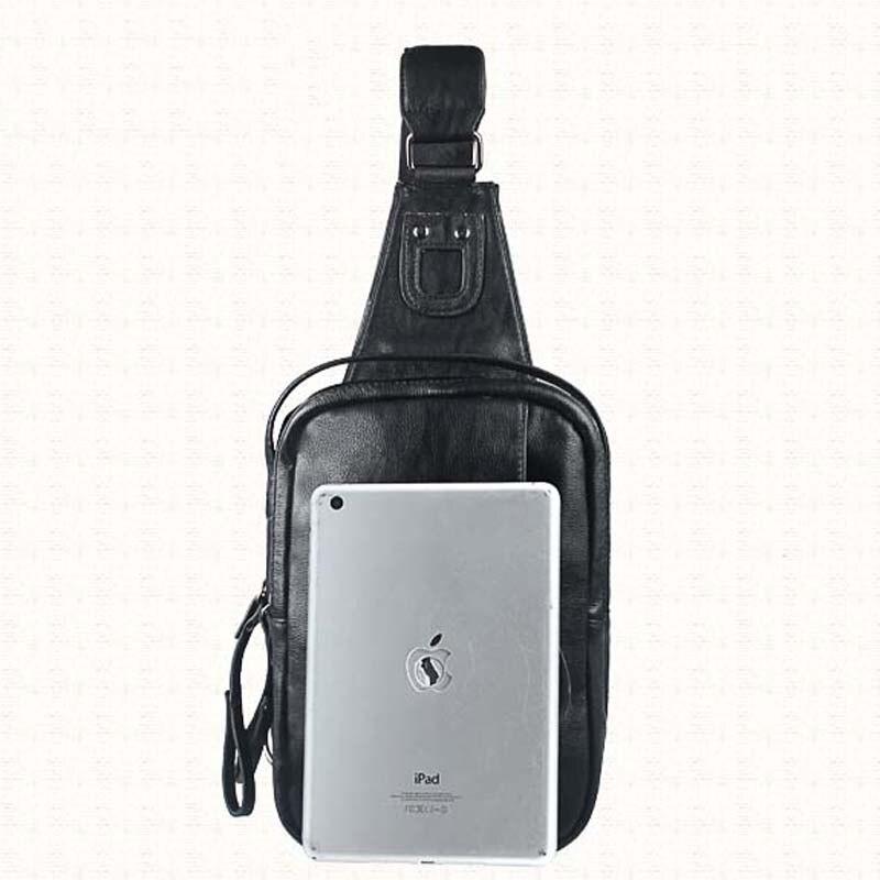 Brand Bag Men Small Travel Chest Pack Pu Leather Mens Shoulder Messenger Bags Single Strap Rucksack Chest Bag NB132