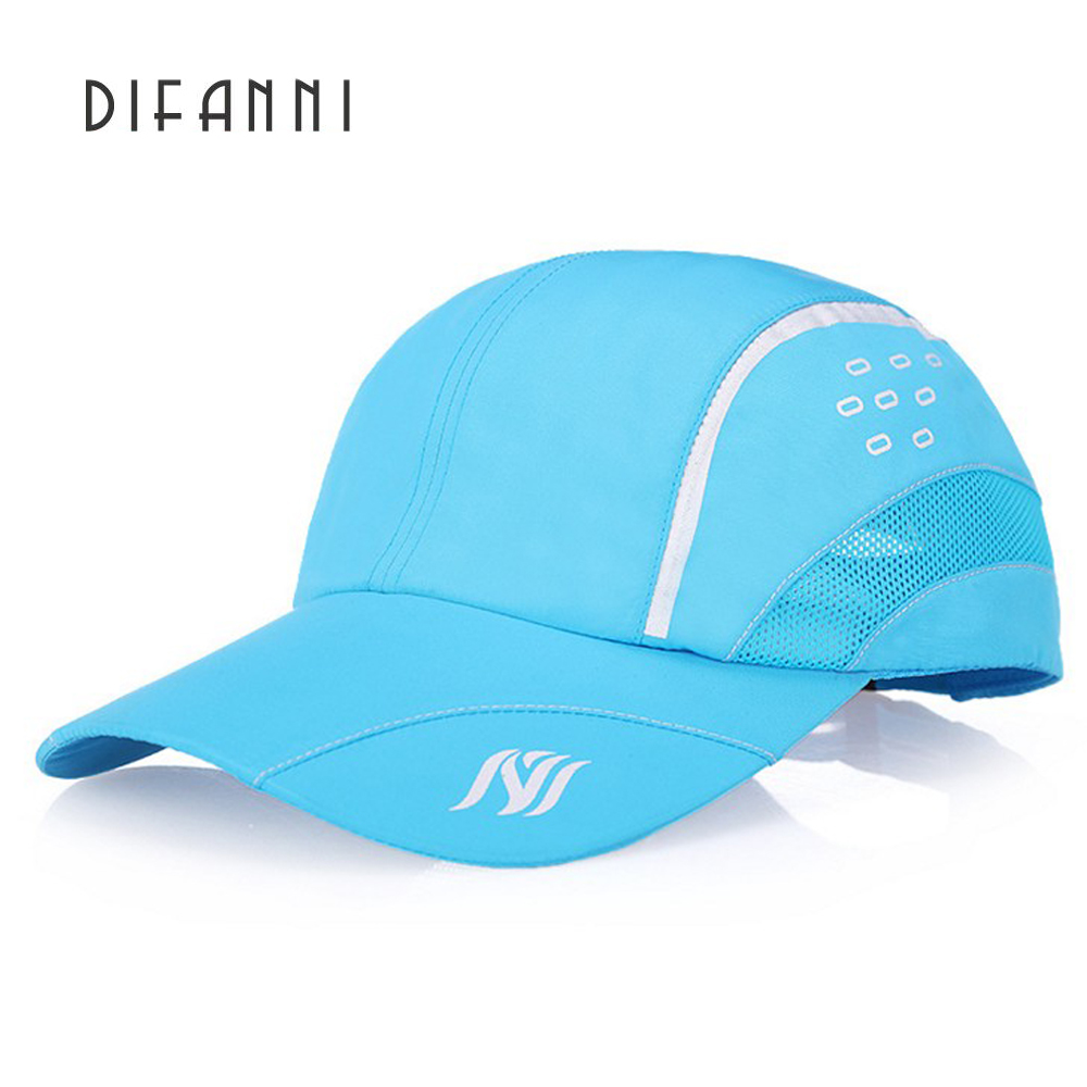 Difanni 2017 Summer Baseball Cap Men Breathable Quick-Drying Mesh Hat Women Visor Unisex outdoor Sports cap StrapBack Adjustable tropic hats mesh cap w camouflage front and visor adjustable one size