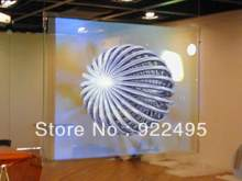 (1.524m *1m) Gray Rear projector film / self adhesive foil / Holographic projection foil screen for shop window advertising(China)