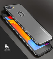 Luphie Diamond Case For IPhone X 8 7 Plus Shockproof Metal Bumper Ultra Thin Matte Back
