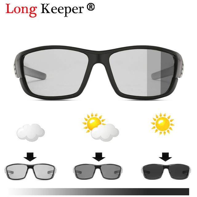 0500a027f0 HOT SALE! Photochromic Sunglasses Men Square Polarized Chameleon  Discoloration Sun glasses for men women Drivers