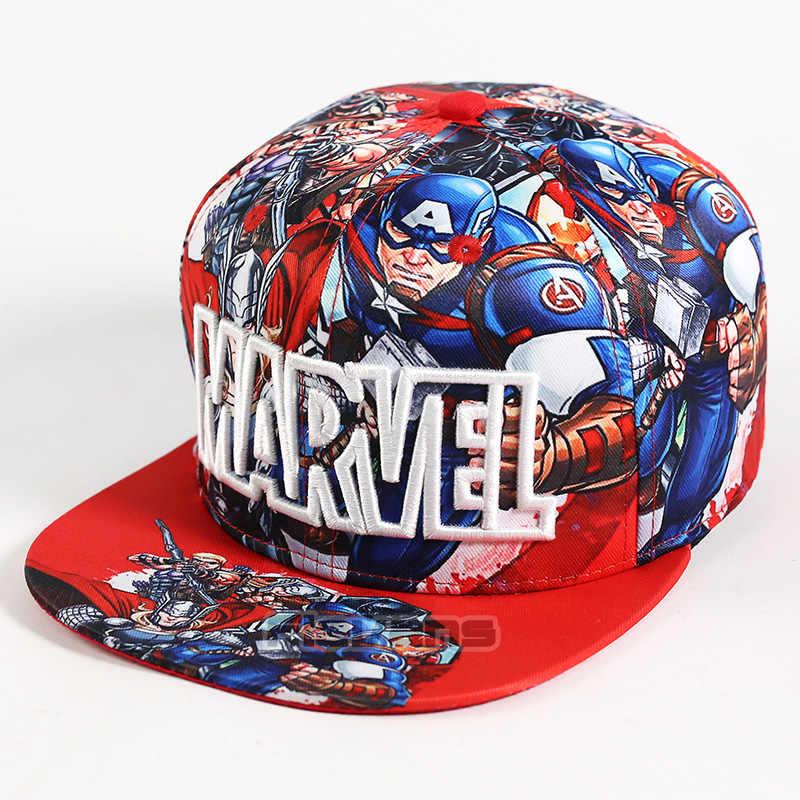 Marvel Avengers กัปตันอเมริกา Thor Hawkeye พิมพ์เบสบอล Snapback หมวก Bboy Hip - Hop หมวกสำหรับชายหนุ่ม