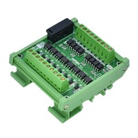 8 way NPN output PLC amplifier module solenoid valve drive relay IO interface board photoelectric isolation solid state relay