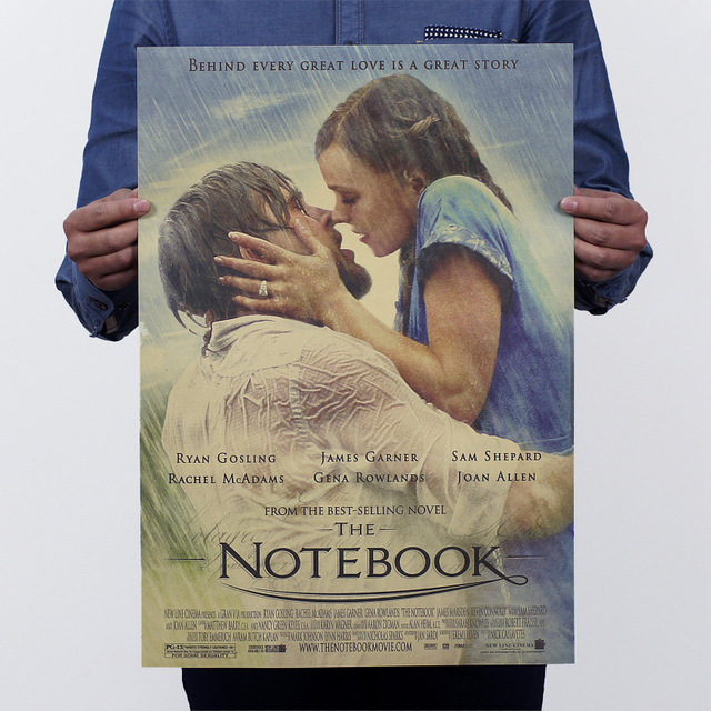 large vintage paper retro poster the notebook nostalgic retro  large vintage paper retro poster the notebook nostalgic retro movie posters size 51 x35cm home art