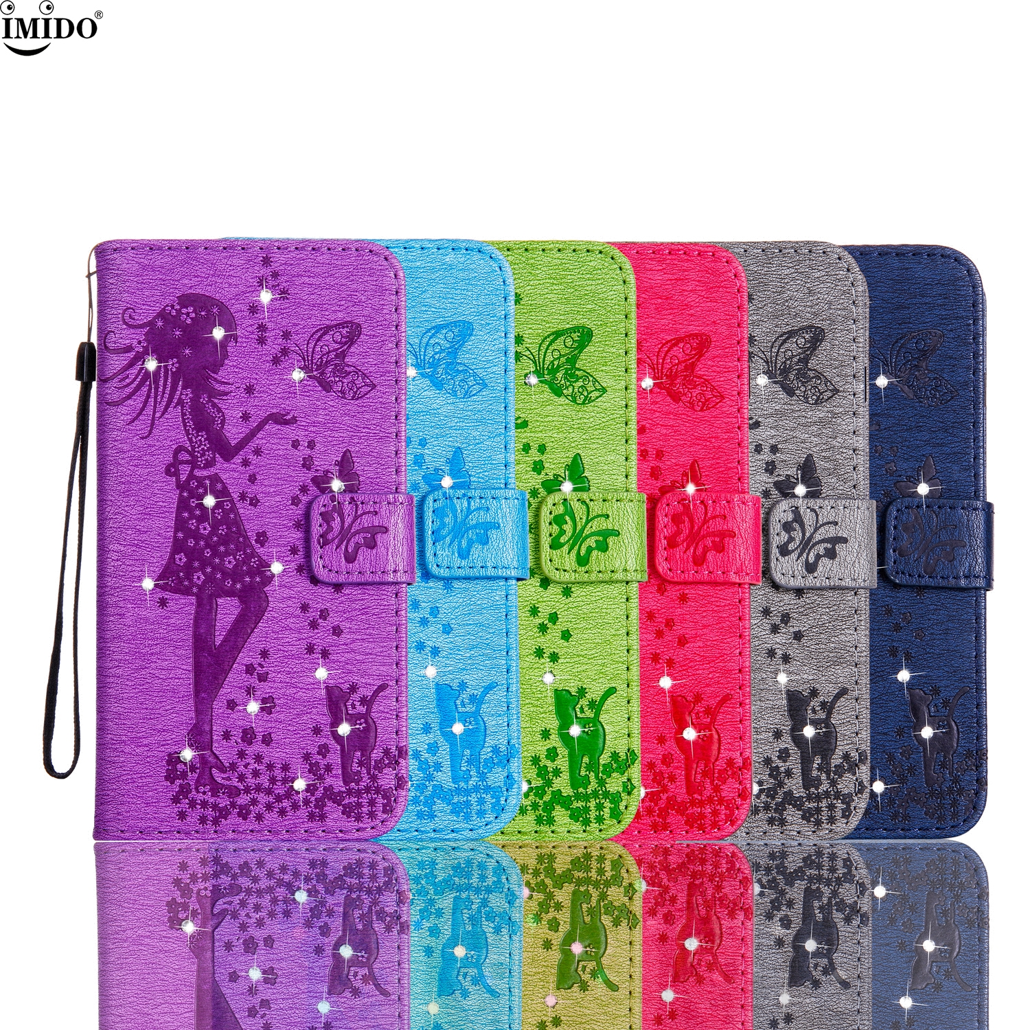 Honor 8 FRD-L09 case bag Honor 8 FRD-L19 Coque 5.2 honor8 box FRD-L02 PRA-TL10 Rhinestone Flip wallet Case for honor8 FRD-L04