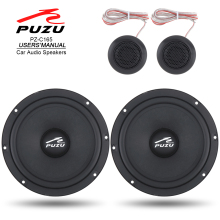 2Pcs 6.5 Inch 180W Car Coaxial Speaker Full Range Frequency Stereo Loudspeaker with Tweeter Divider for Cars