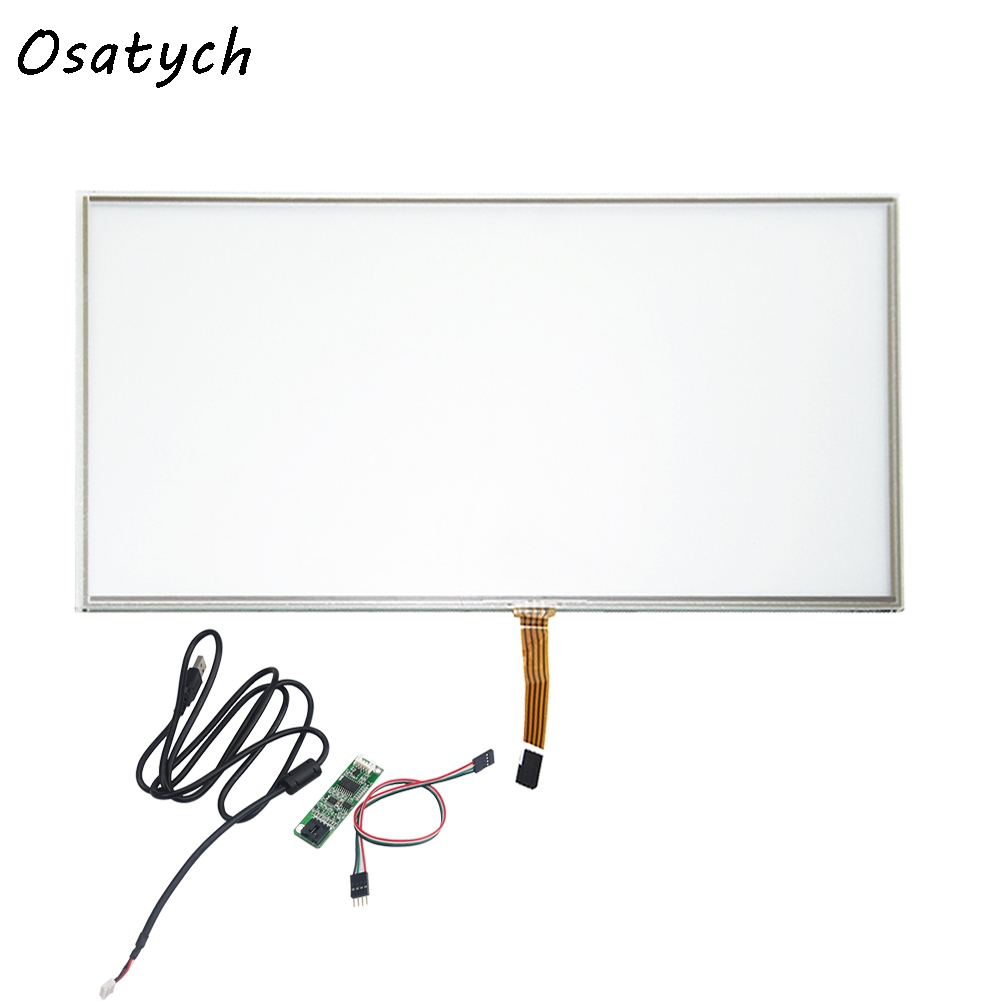 215.9x363.8mm Resistive Touch Screen Panel + 4 Wire USB Kit for 15.6inch Monitor 17inch resistive touch screen panel 382 2x239 5mm 5wire usb driver board kit for 17 monitor