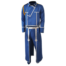 Anime Fullmetal Alchemist Roy Mustang Army Uniform Full Set Cosplay Costume