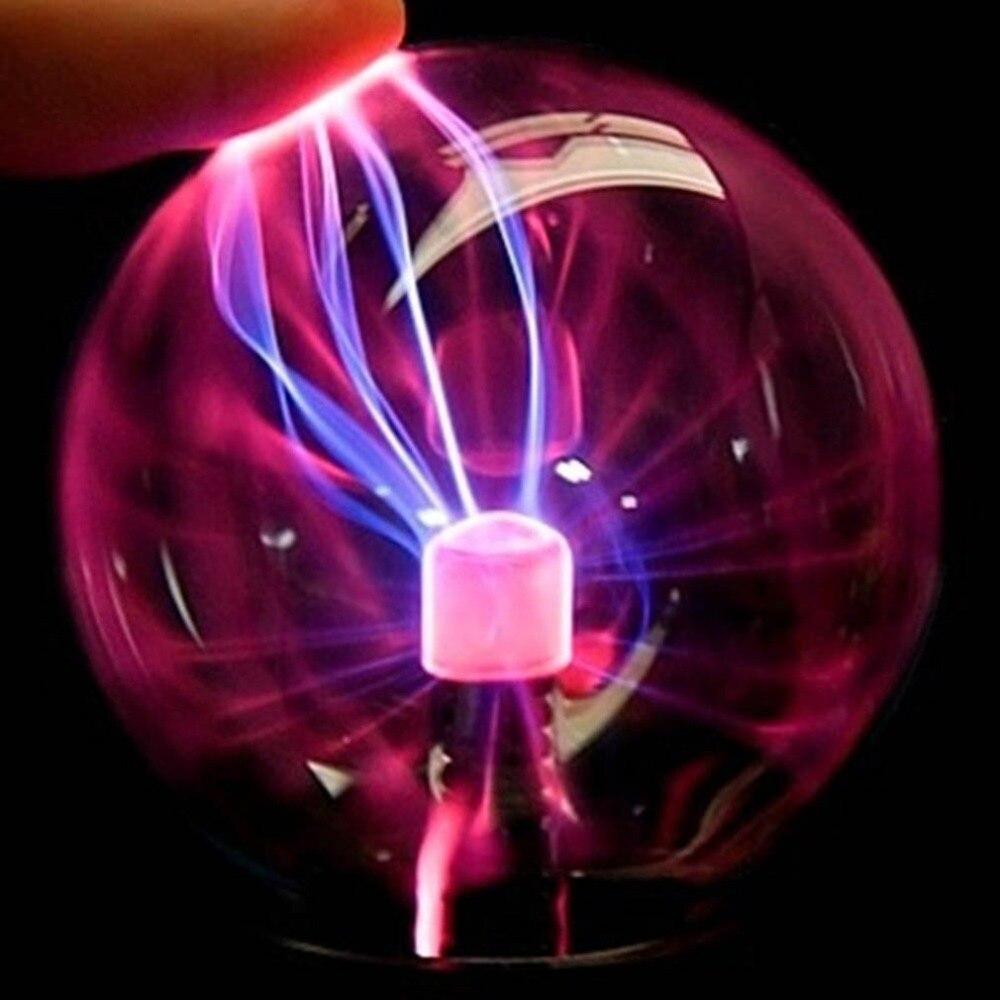 USB плазменный шар, Электростатическая сферическая лампа, волшебная хрустальная лампа, настольное освещение для рождественской вечеринки, с...