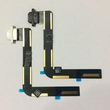 10 CÁI Đối Với iPad 5 Air Gốc USB Sạc Kết Nối Dock Charger Cảng Flex Cable Ribbon Đen/Trắng Thay Thế Sửa Chữa bộ phận