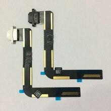 10 Uds para iPad 5 Air Original USB Estación de conector de carga Puerto cargador cinta de cable Flex negro/blanco piezas de repuesto de reparación