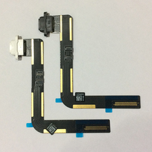 10ピース用ipad 5空気オリジナルusb充電コネクタドック充電ポートフレックスケーブルリボン黒/白交換修理部品