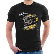 Nieuwste Mode Ayrton Senna Tribute T shirt Helm Tee Heren Hoge Kwaliteit Tees
