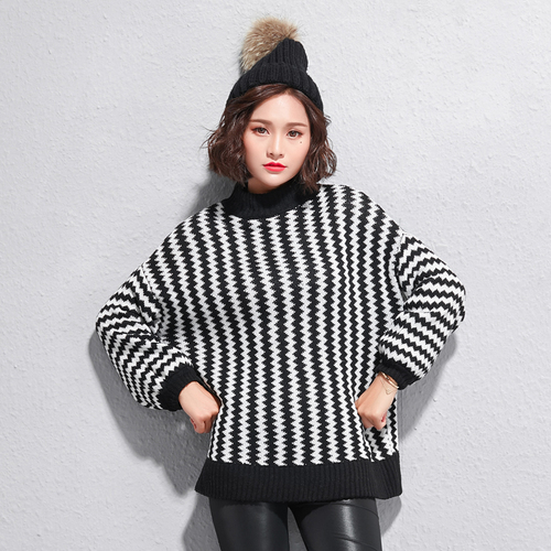 c317d63696ca3 Hot New 2018 Autumn Winter Sweater Women Korean Style Loose stripes Long  Sleeve Pullover Basic Sweaters Knit clothes Femme
