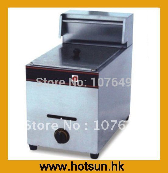 Hot Sale 1 Tank Stainless Steel Gas Potato Deep Fryer with Basket
