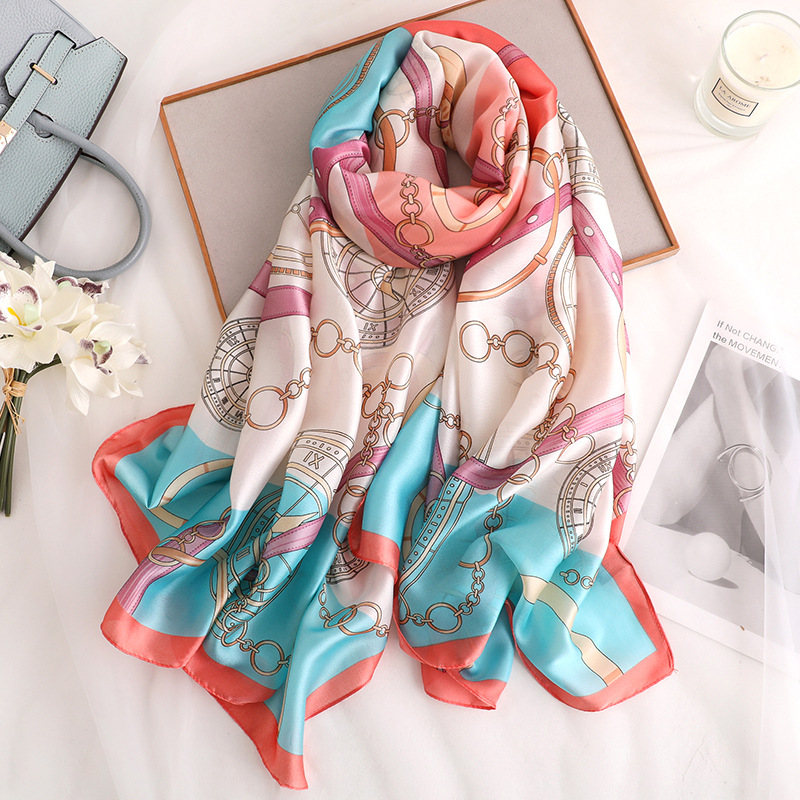 Luxury Brand Silk Scarf For Women 2020 Summer Soft Long Size Hijab Scarves Lady Foulard Cheveux Female Beach Stoles Pashmina