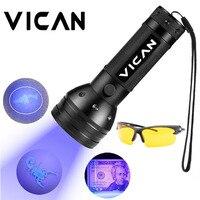 51 LEDs UV 395nm детектор банкнот с УФ лампой ультрафиолетовая лампа черного цвета фонарик с очками